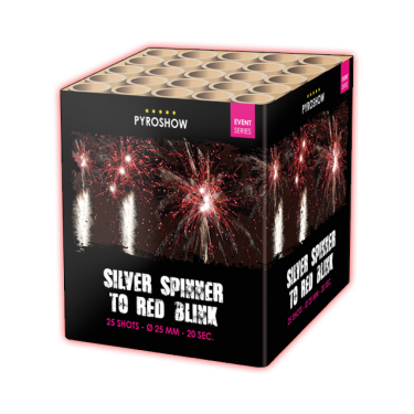 Silver Spinner to Red Blink - Zeus Fireworks
